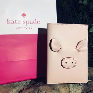 Kate Spade Leather Embellished Passport/Wallet